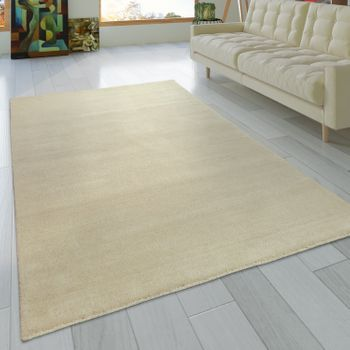 Rug Hand-knotted Gabbeh High Quality 100% Wool Subtle Mottled In Plain Cream – Bild 1