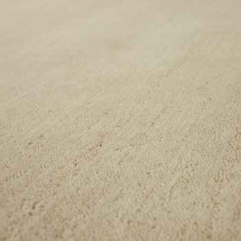 Rug Hand-knotted Gabbeh High Quality 100% Wool Subtle Mottled In Plain Cream – Bild 3