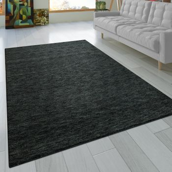 Rug Hand-knotted Gabbeh High Quality 100% Wool Subtle Mottled Anthracite – Bild 1