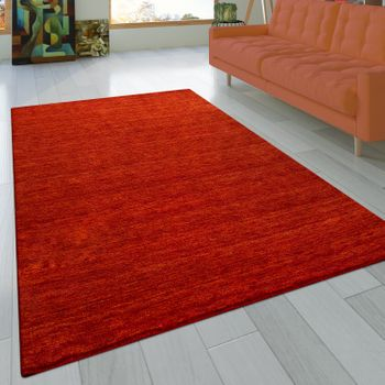 Rug Hand-knotted Gabbeh Terracotta