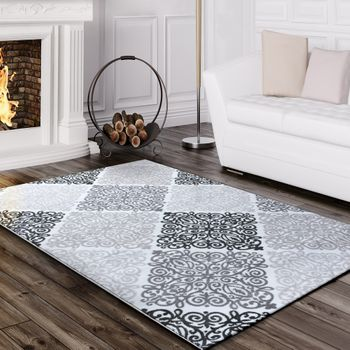 Designer Rug Baroque Design Grey