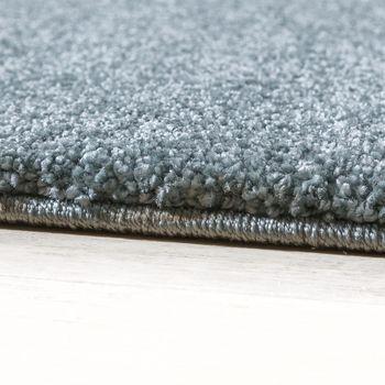 Designer Teppich Frieze Teppiche Luxuriös Schimmer Glanzeffekt In Pastell Türkis – Bild 2