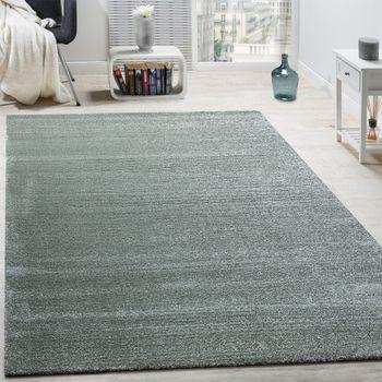 Designer Teppich Frieze Teppiche Luxuriös Schimmer Glanzeffekt Pastell Mint Grün – Bild 1