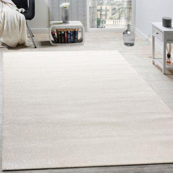 Designer Teppich Frieze Teppiche Luxuriös Schimmer Glanzeffekt In Uni Creme – Bild 1