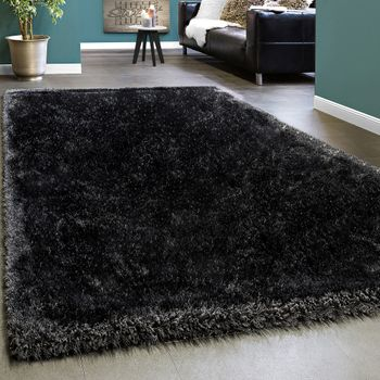 Elegant Rug shaggy Plain Anthracite