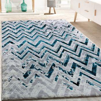 Designer Teppich Zick Zack Muster