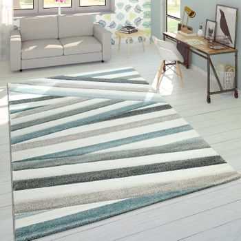 Designer Rug Striped Pastel tones Cream
