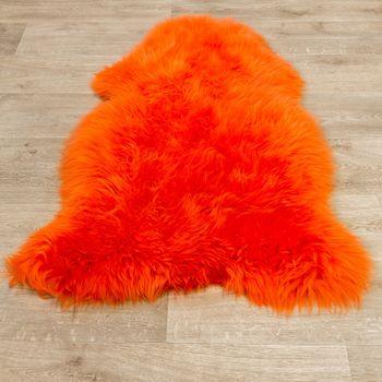 Australisches Lammfell Naturfell Bettvorleger Echtes Schaffell In Orange – Bild 4