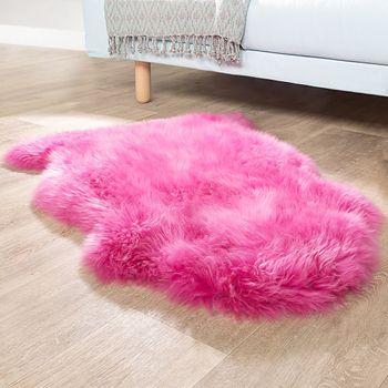 Australisches Lammfell Naturfell Bettvorleger Echtes Schaffell In Pink – Bild 1