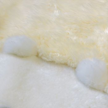 Australian Lambskin Natural fur Play mat Nursery Decorative fur Polar bear White – Bild 3
