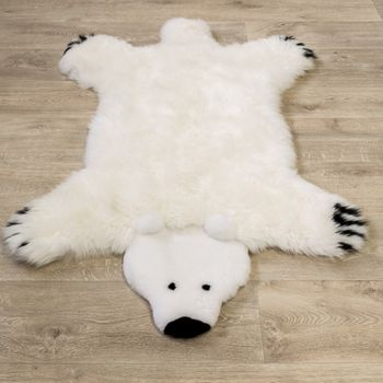 Australian Lambskin Natural fur Play mat Nursery Decorative fur Polar bear White – Bild 4