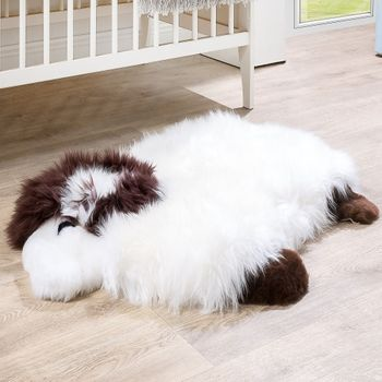 Australian Lambskin Natural fur Play mat Nursery Decorative fur Sheep White – Bild 1