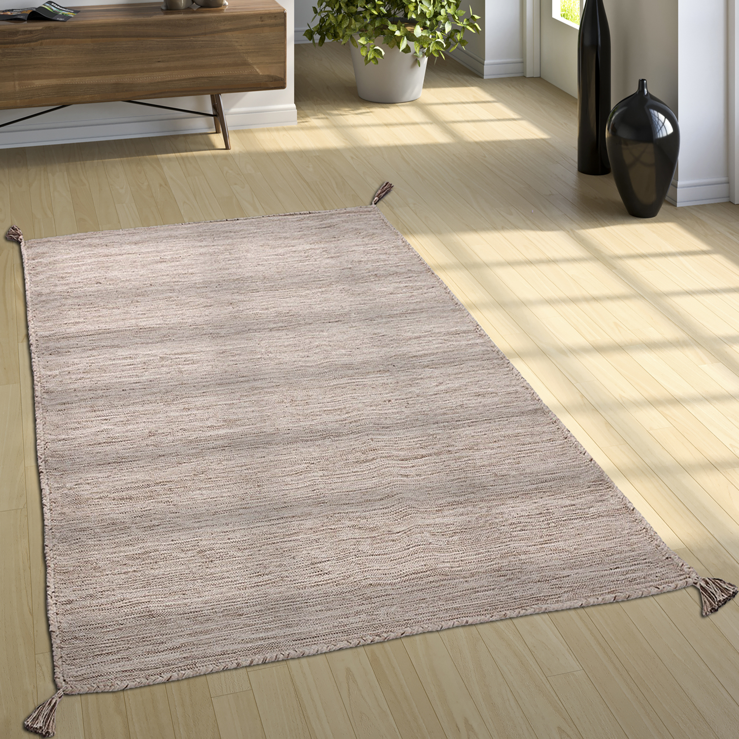 tapis de cr ateur tapis tiss kilim tiss main 100 coton moderne chin beige tapis tapis en. Black Bedroom Furniture Sets. Home Design Ideas