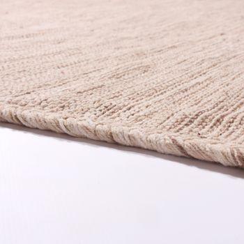 Tapis De Créateur Tapis Tissé Kilim Tissé Main 100% Coton Moderne Chiné Beige – Bild 2
