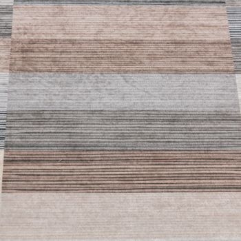 Designer Rug Living Room Rugs Checked Striped Pattern Printed Mottled Brown – Bild 3