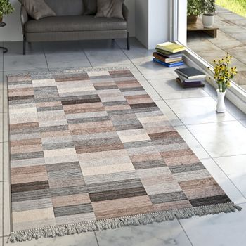 Designer Rug Mottled Brown