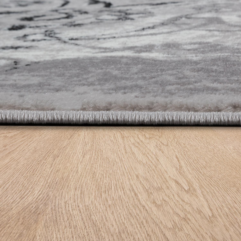 Schwarz Weiß Im Arbeitszimmer: Designer Teppich Wohnzimmer Teppiche Florale Vintage Optik
