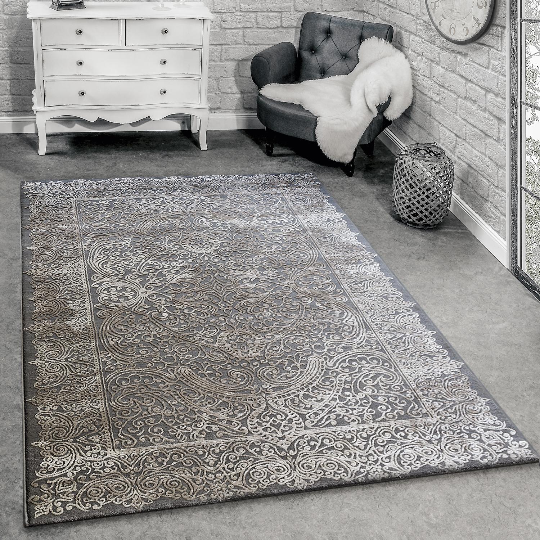 designer teppich 3d barock grau design teppiche. Black Bedroom Furniture Sets. Home Design Ideas