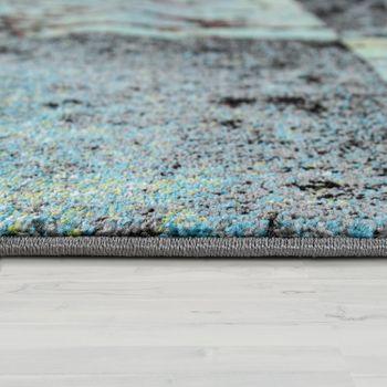 Designer Teppich Modern Wohnzimmer Ölgemälde Abstrakt Rost Optik In Grün Schwarz – Bild 2