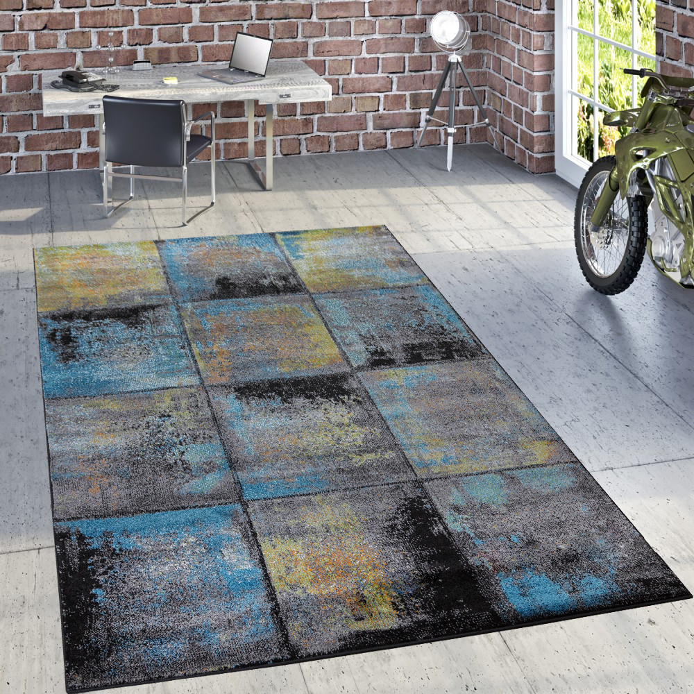 Designer teppich rost optik mehrfahrbig design teppiche for Teppich wohnzimmer modern