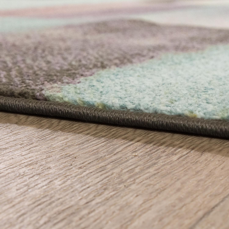 Designer Rug Modern Living Room Colour Gradient Checked Pattern