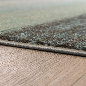 Designvloerkleed Modern Woonkamer Kleurverloop Streeppatroon Pastel Groen Blauw Crème – Bild 2