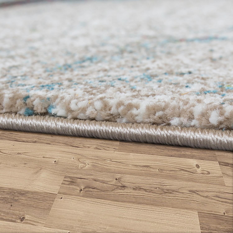 designer teppich holz stil hoch tief optik in natur t nen blau grau rost teppiche kurzflor teppiche. Black Bedroom Furniture Sets. Home Design Ideas