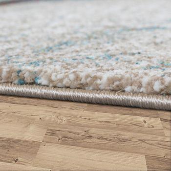 Designer Rug Wood Style Long Deep Effect Nature Shades Blue Grey Rust – Bild 2