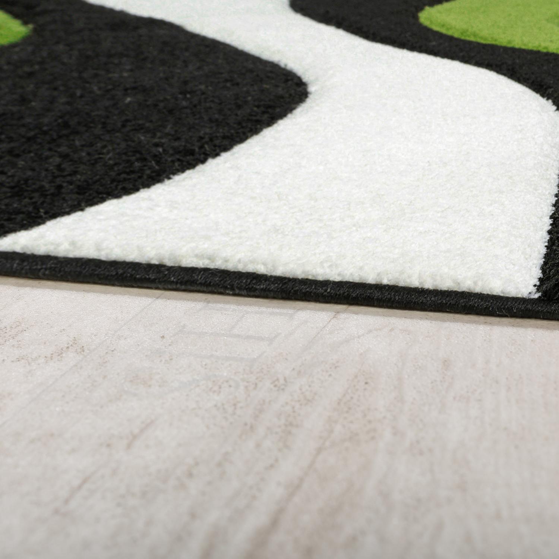 Teppich Modern Wohnzimmer Kurzflor Wellen Design Weiß Schwarz Grün  AUSVERKAUF U2013 Bild 2