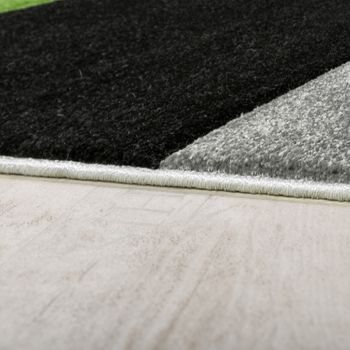 Rug Modern Living Room Short Pile Checked Design Green Black Grey CLEARANCE SALE – Bild 2