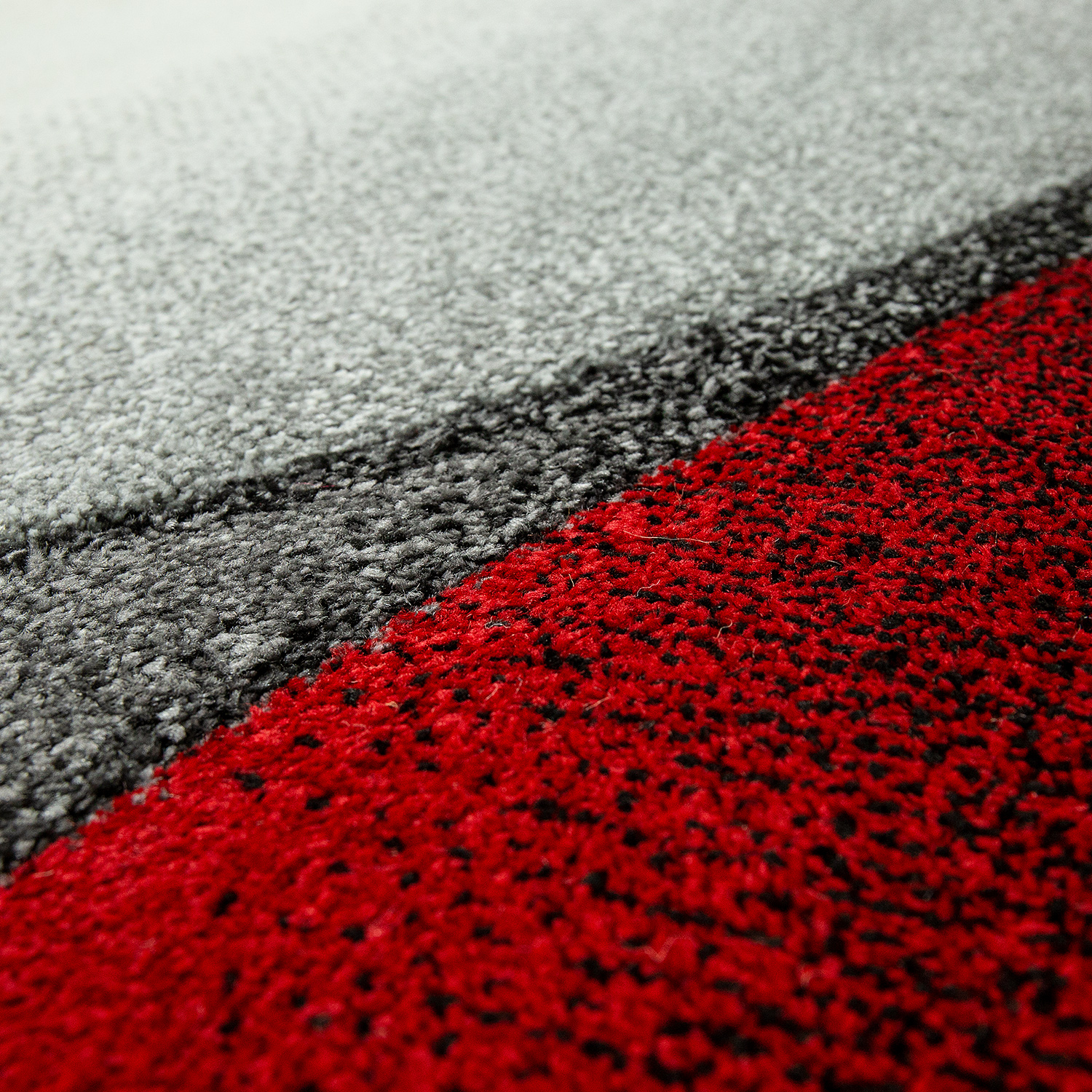Rug Abstract Wave Design Red Rug24