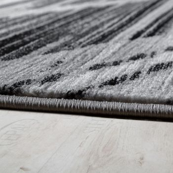 Elegant Designer Rug Curved Lines Short-pile Grey Cream Black Mottled SALE – Bild 2