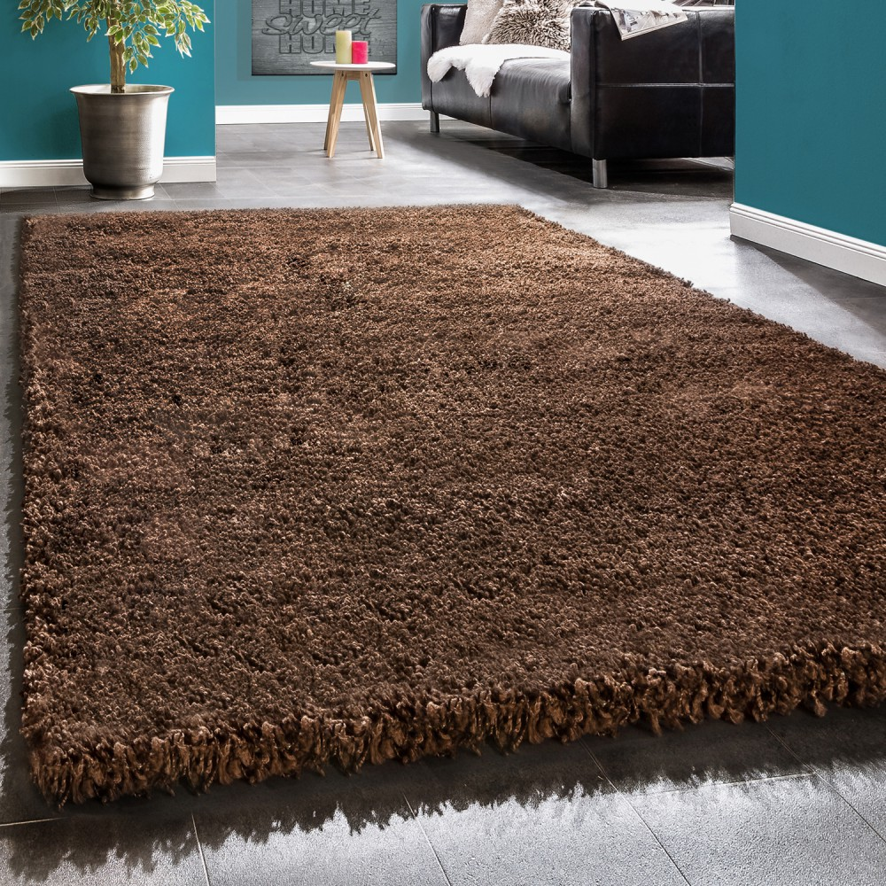 Shaggy Rug / Super Soft High Pile / Rio XXL Carpet / Shaggy Rug in Brown SALE