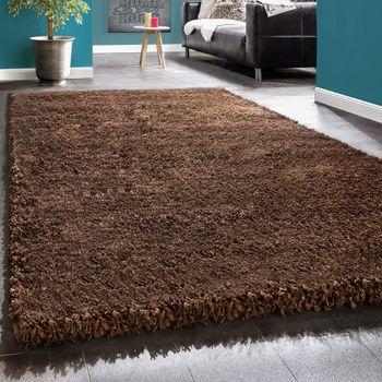Shaggy Rug / Super Soft High Pile / Rio XXL Carpet / Shaggy Rug in Brown SALE – Bild 1