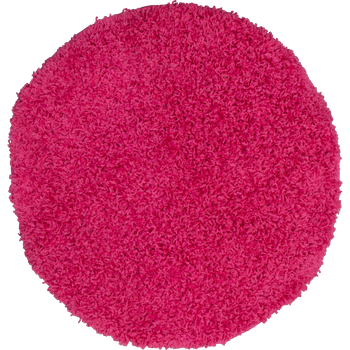 Shaggy High-Pile Rug Round Ø 67 One Colour Pink Top Offer at a Great Price  – Bild 1