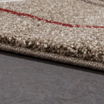 High-Quality Heavy Woven Rug Runner Corridor Rug Beige Cream Red Clearance Sale – Bild 2