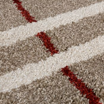 High-Quality Heavy Woven Rug Runner Corridor Rug Beige Cream Red Clearance Sale – Bild 3