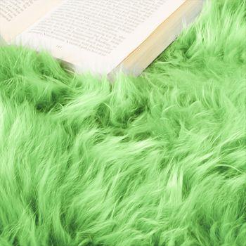 Australisches Lammfell Naturfell Bettvorleger Echtes Schaffell In Apfel Grün – Bild 3