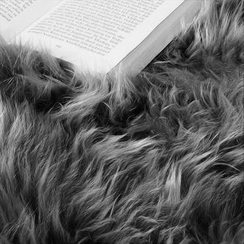 Australisches Lammfell Naturfell Bettvorleger Echtes Schaffell In Anthrazit Grau – Bild 3