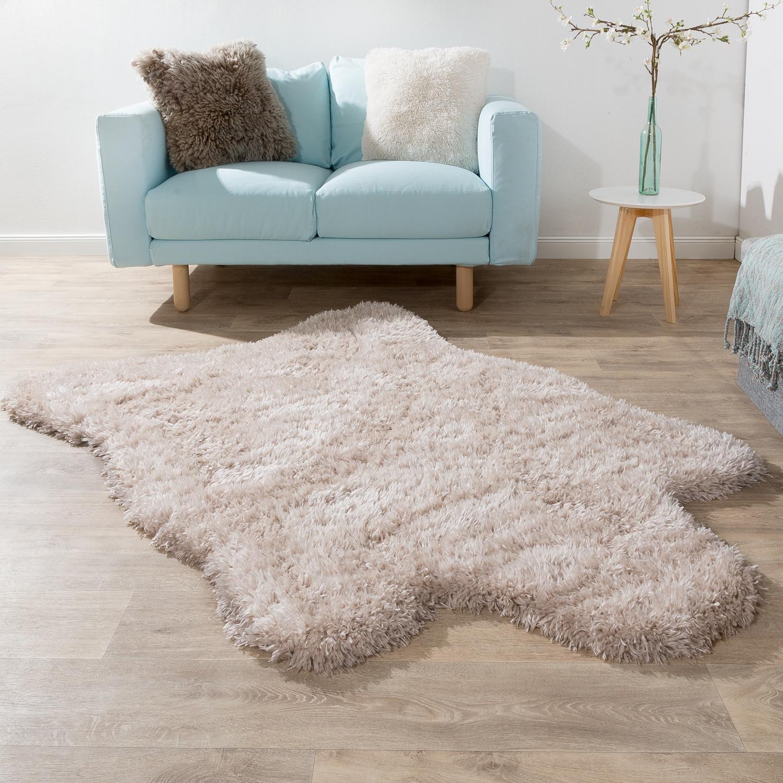 XXL Long Pile Rug Faux Fur Polar Bear Flokati Style Soft High-Quality Now In Beige