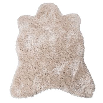 XXL Long Pile Rug Faux Fur Polar Bear Flokati Style Soft High-Quality Now In Beige – Bild 2