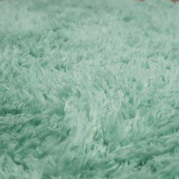 XXL Long Pile Rug Faux Fur Polar Bear Flokati Style Soft High-Quality Now In Green – Bild 3