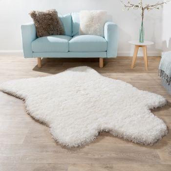 Deep Pile Rug XXL Faux Fur Flokati White