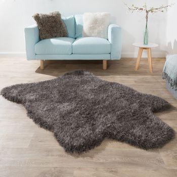 Deep Pile Rug XXL Faux Fur Flokati Anthracite