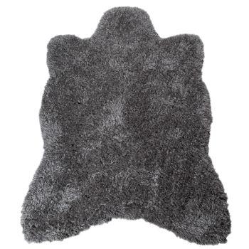 XXL Long Pile Rug Faux Fur Polar Bear Flokati Style Soft High-Quality In Anthracite – Bild 2