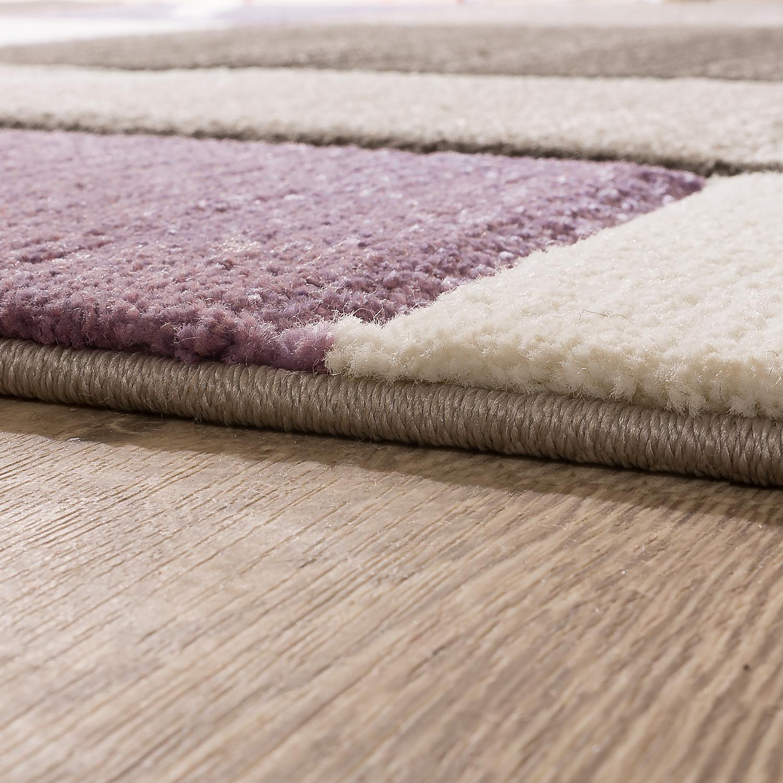 l ufer set karo muster lila design teppiche. Black Bedroom Furniture Sets. Home Design Ideas