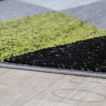 Bed Border Runner Rug Geometric Mottled Green Grey Black Runner Set 3-Piece – Bild 2