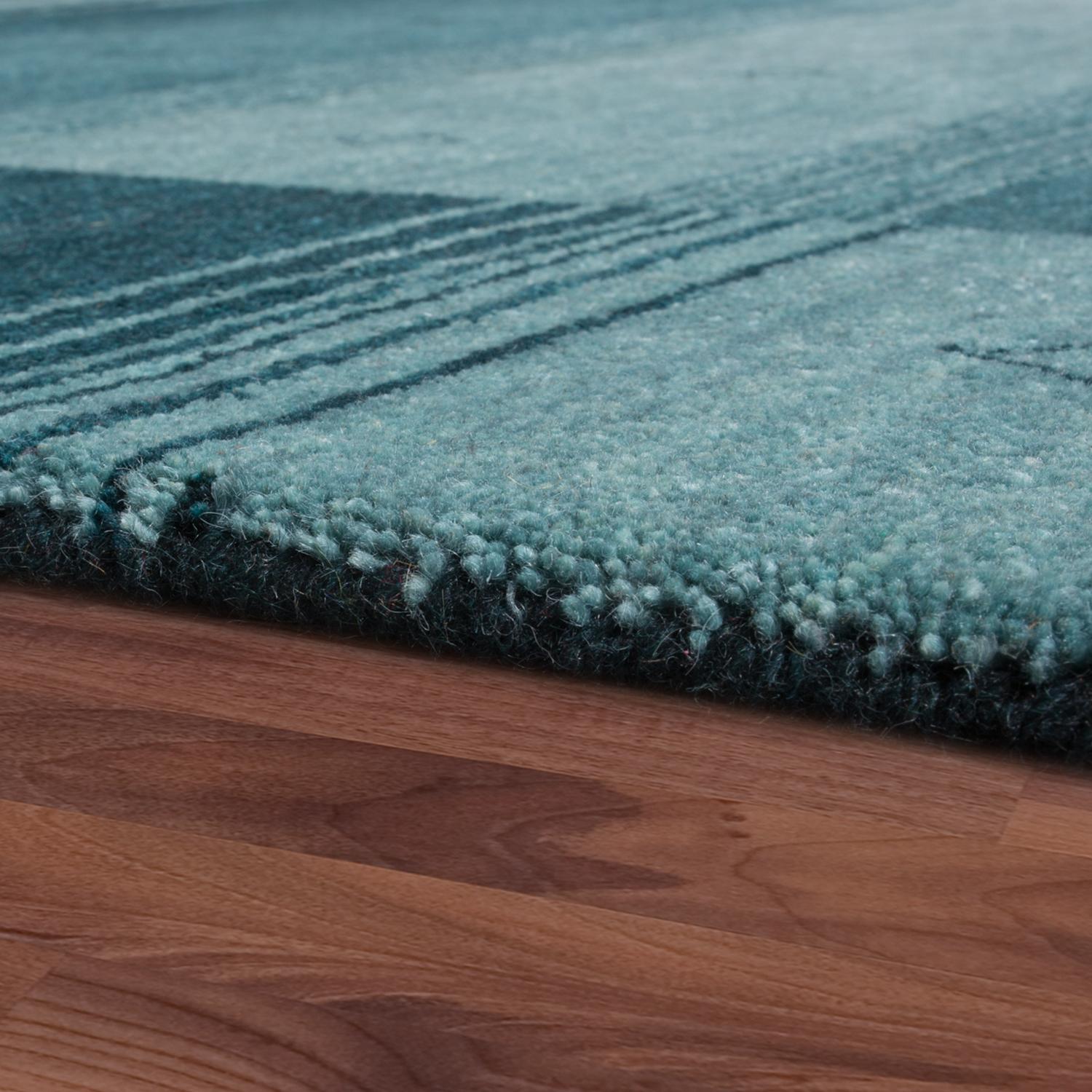 teppich indischer gabbeh meliert bord re gr n naturfaser teppiche. Black Bedroom Furniture Sets. Home Design Ideas