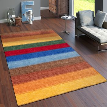 Rug Hand-Woven Gabbeh High Quality100% Wool Mottled Balcony Multicolour – Bild 1