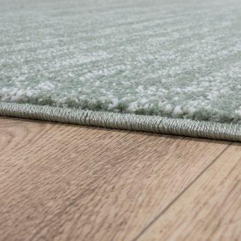 Teppich Kurzflor Modern Trendig Pastellfarben Design Meliert Einfarbig Grün – Bild 2